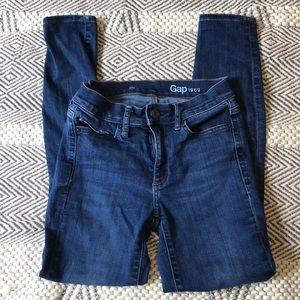 GAP Rich indigo Resolution True Skinny Jeans